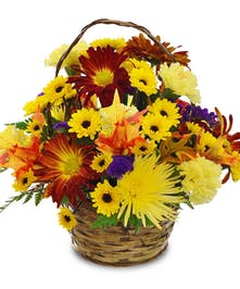 Autumn Days Floral Basket