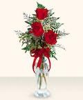Three Rose Bud Vase