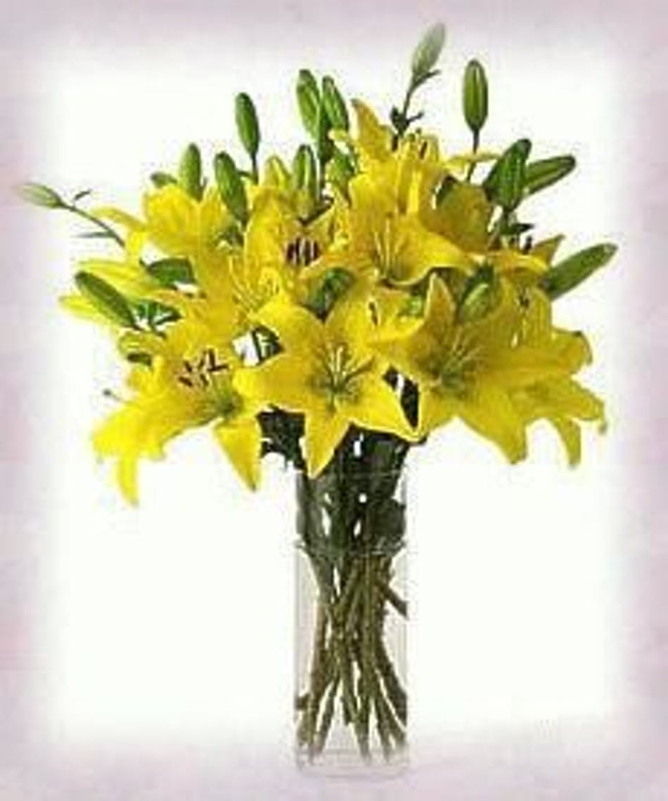 Bright Yellow Flower Arrangements Yellow Lily Yellow Lilies
