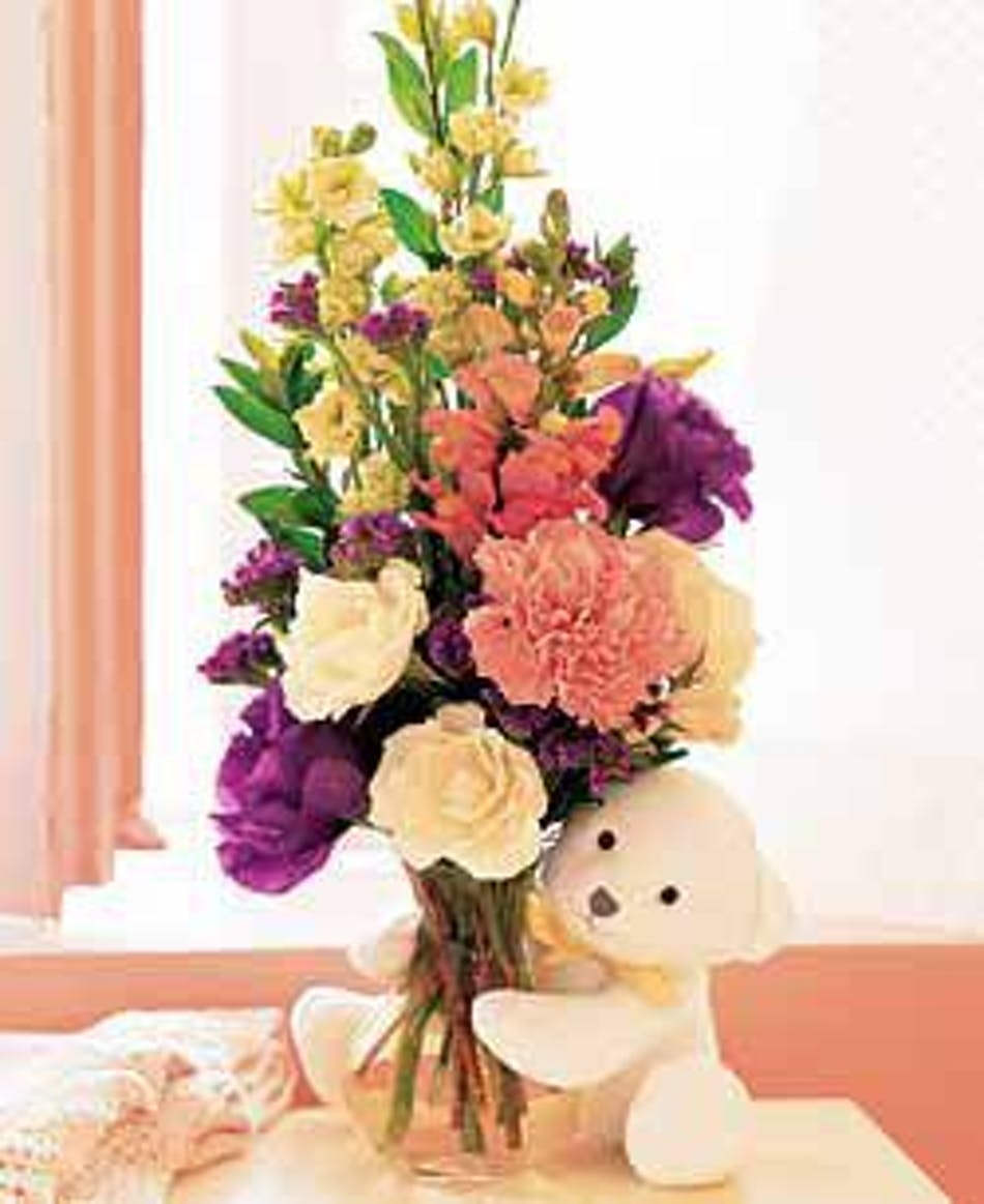 Flowers And Teddy Bear Flowers And Gifts Teddy Bear