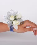 Blue Skys 3 Sweetheart Rose Wrist Corsage