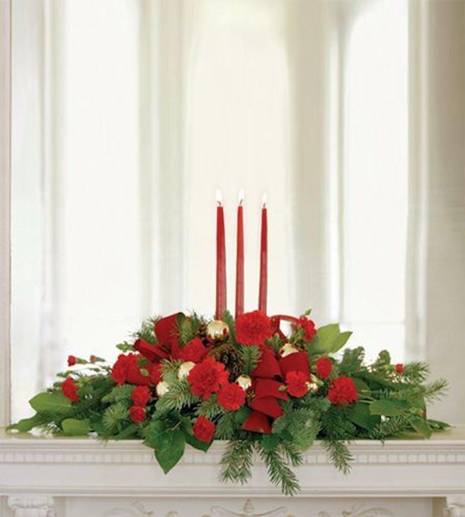 Christmas centerpieces flowers albuquerque holiday