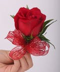 Classic Red Rose Pin On Corsage