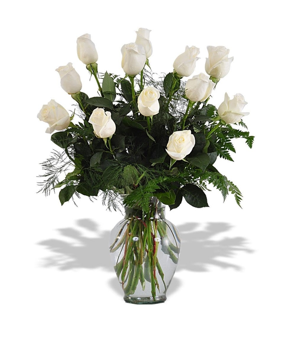 White rose arrangement in albuquerque nm peoples flowers mightylinksfo