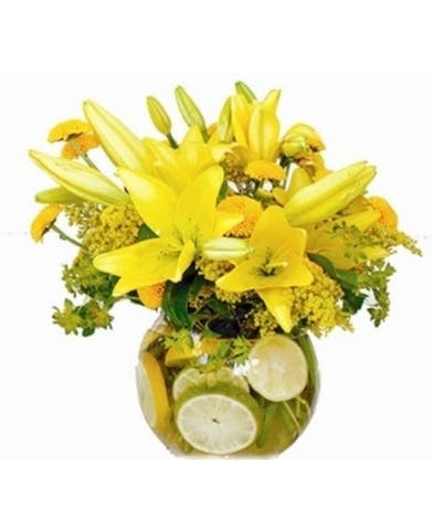 Lilies and Lemons Birthday Bouquet
