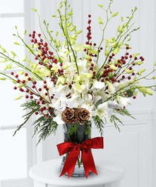 Orchids and Berries Bouquet