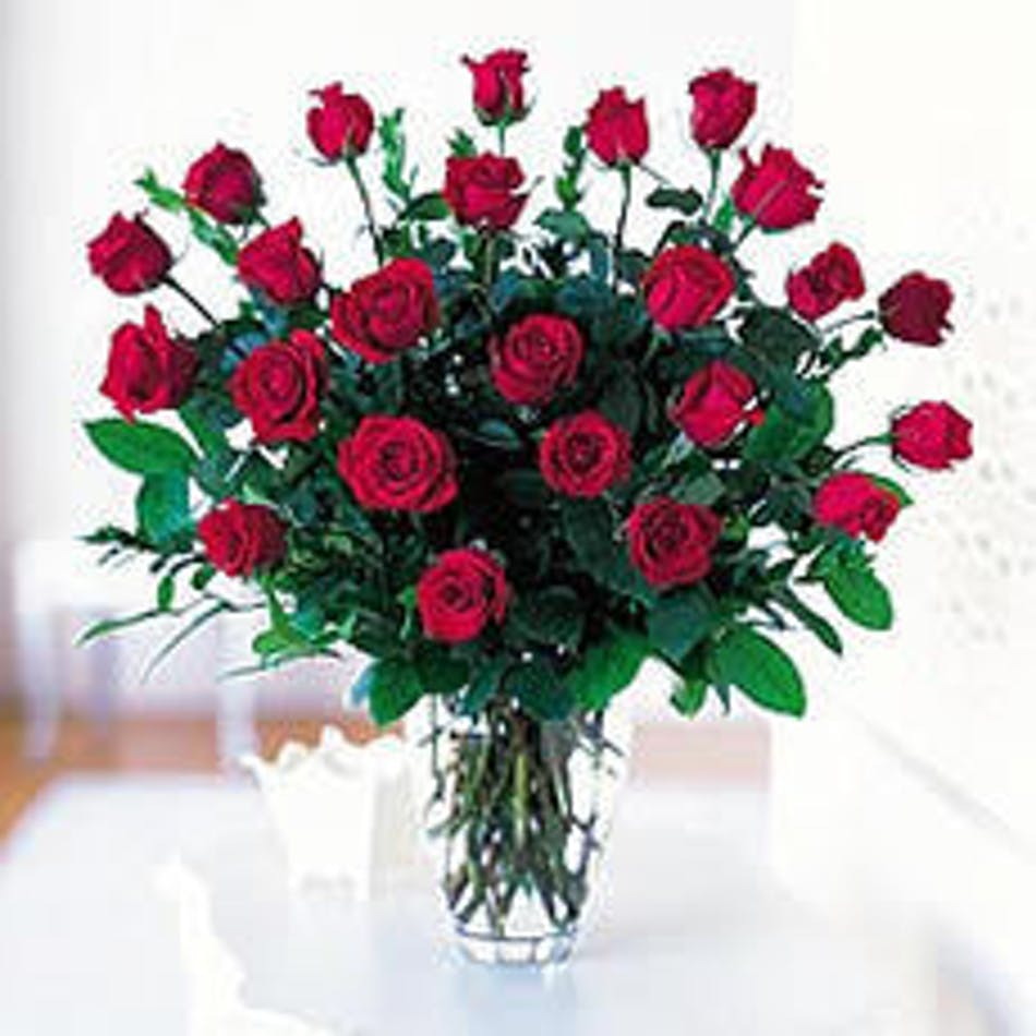 Roses and stargazer lilies in albuquerque nm peoples flowers 24 long stem beautiful roses izmirmasajfo Images