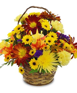 Autumn Days Floral Basket