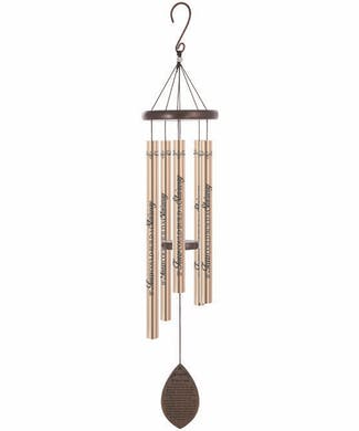 Etched Champagne Wind Chime