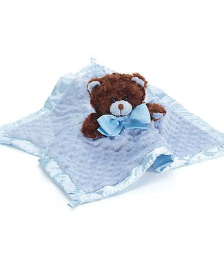 Baby Boy's First Blanket and Bear