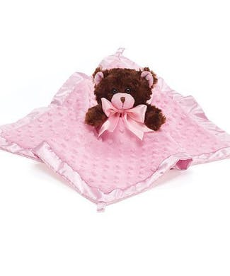 Baby Girl's First Blanket and Bear