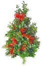Holiday Boxwood Tree with Fewer Decorations
