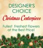 Designer's Choice Christmas Centerpiece with Premium Flowers