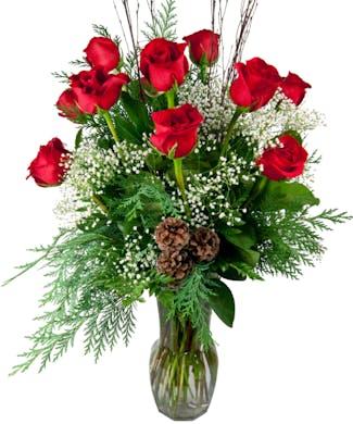 Christmas Dozen Roses