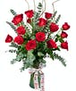 Loverboy with 18 Roses accented with Love Ribbon Treatment