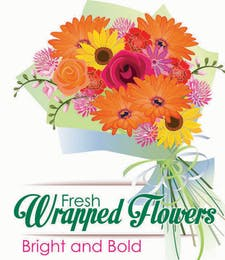 Fresh Wrapped Flowers
