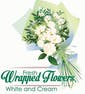 Fresh Wrapped Flowers (White and Cream Colors)
