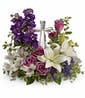 Grace and Majesty Crystal Cross  (Purple and White Flowers)