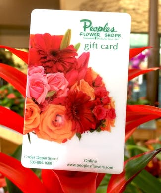 Peoples Flowers Shops Gift Card