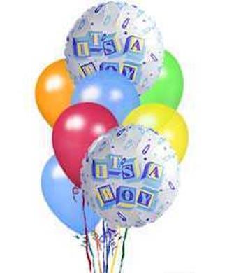 It's A Boy Balloon Bouquet