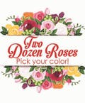 Upgrade to Two Dozen Color Roses without  Accent Flower