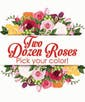 Upgrade to Two Dozen Color Roses with Accent Flower